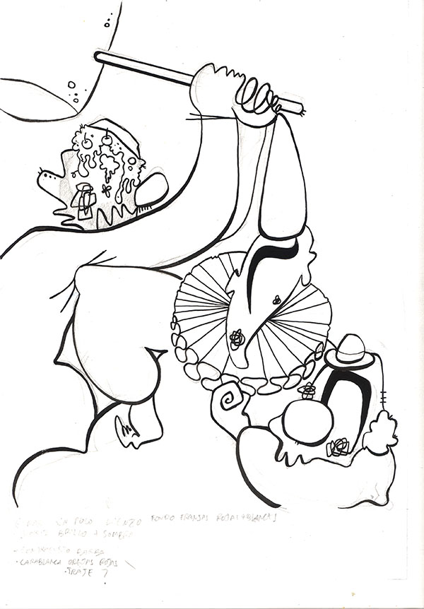 bearded-woman-tinta sobre papel
